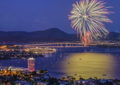 Ashlie Hill Hobart fireworks