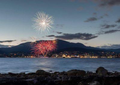 Tegan Pearce Hobart fireworks